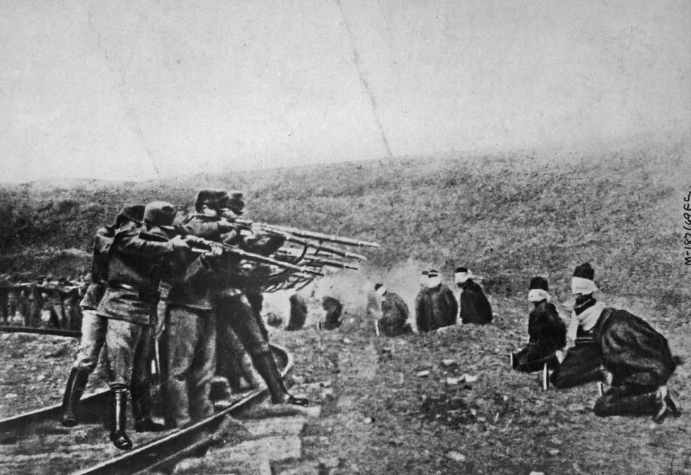 Österreich im ersten Weltkrieg Serbien Erschießung