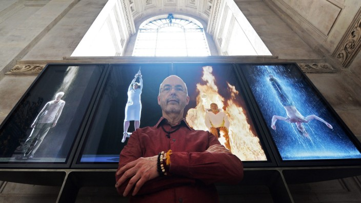 US artist Bill Viola video installation at St.Pauls Cathedral
