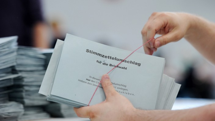 Europawahl - Briefwahlauszählung in München