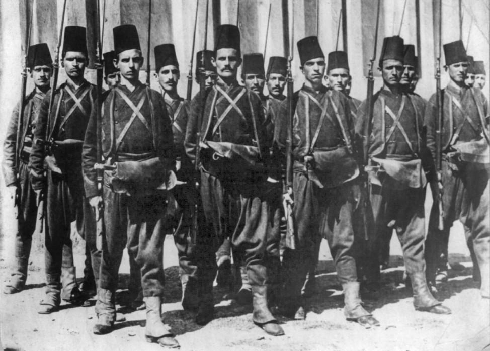 Soldaten der osmanischen Kalvalerie