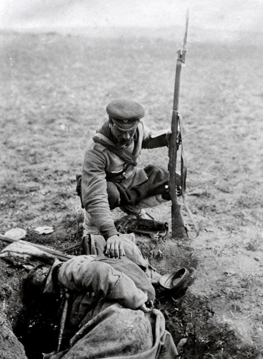 Bulgarische Soldaten im Balkankrieg