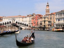 Venedig Italien Canale Grande Gondel