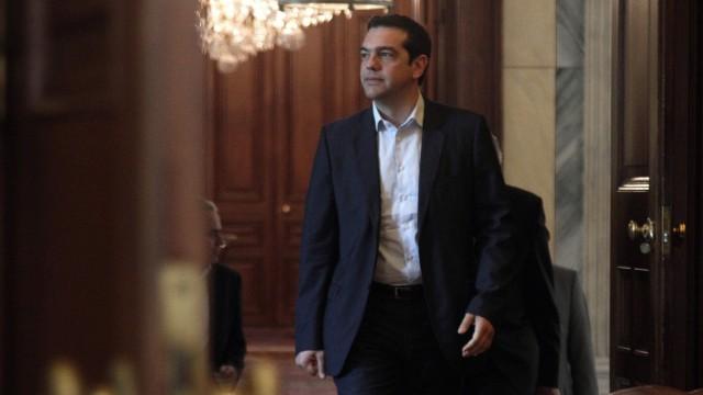 Radical Left Coalition leader Alexis Tsipras meets Greek Presiden