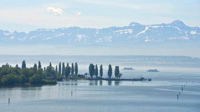 Blick auf den Bodensee.
