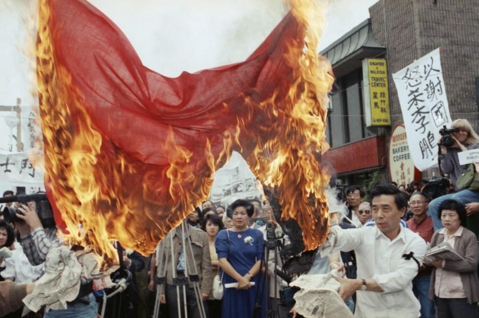 Proteste gegen das Massaker vom Tiananmen 1989
