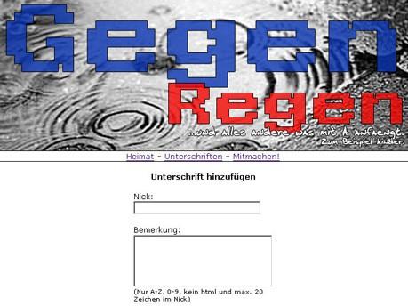 www.gegen-regen.de.vu