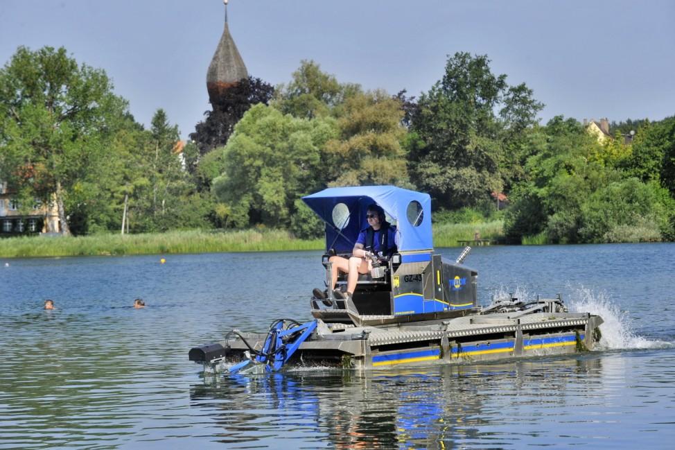 Weßling See Mähboot