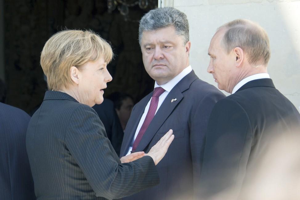Merkel Putin Poroschenko