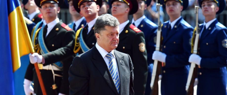 Petro Poroschenko bei der Vereidigung als neuer Präsident der Ukraine
