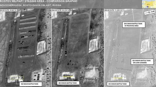 Nato veröffentlicht Fotos von mutmaßlichen russischen Panzern in der Ukraine