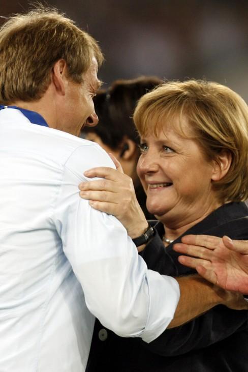 Angela Merkel, Juergen Klinsmann