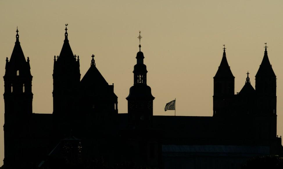 Wormser Dom im Abendlicht