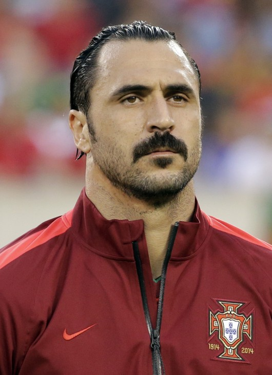 Portugal's Hugo Almeida looks on before their international friendly soccer match against Ireland, ahead of the 2014 World Cup, in East Rutherford
