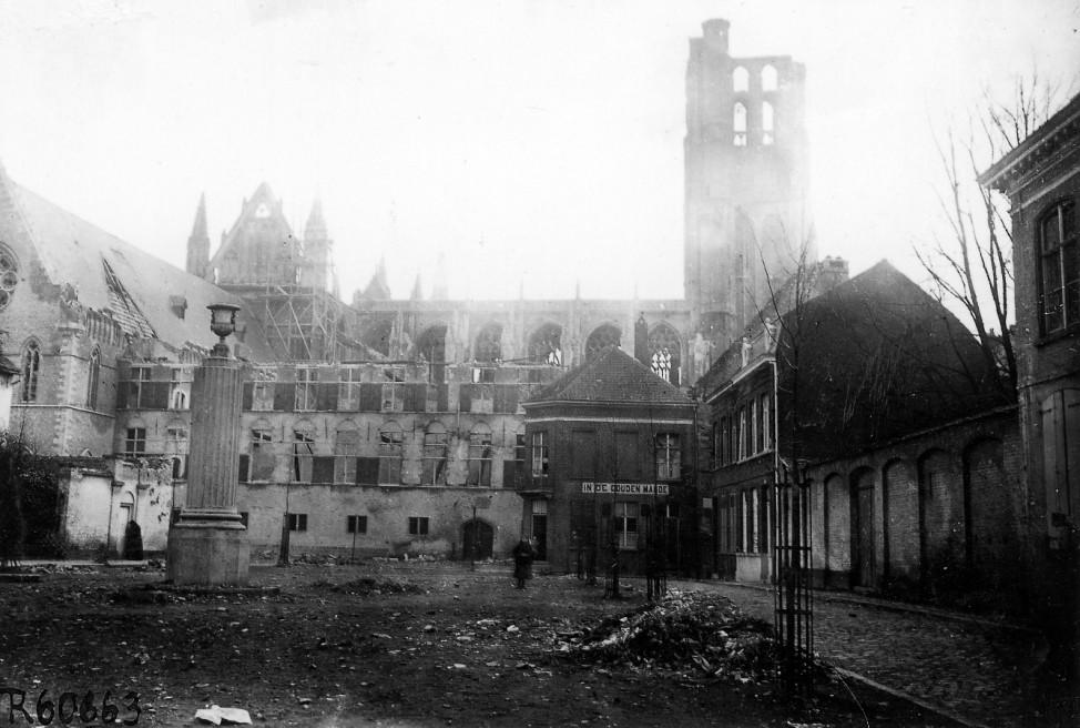 Zerstörte Kathedrale von Ypern