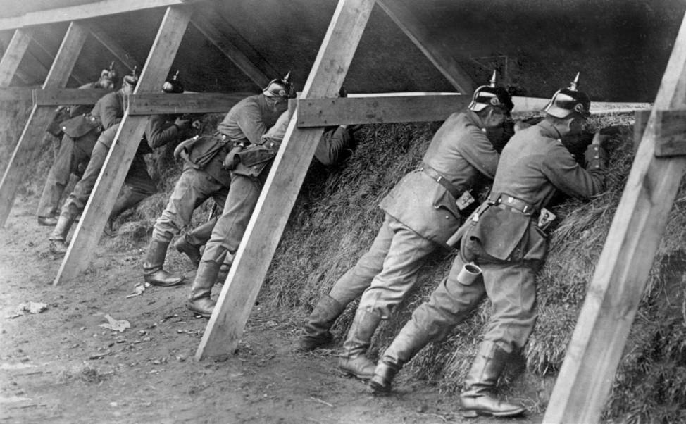 Deutsche Soldaten an der Westfront, 1914