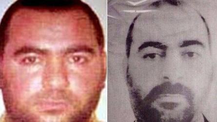 Isis-Chef Abu Bakr al-Baghdadi: Zwei Fotos, die Abu Bakr al-Bagdadi zeigen sollen, stammen von den US-Behörden (l.) und vom irakischen Innenministerium (r.)