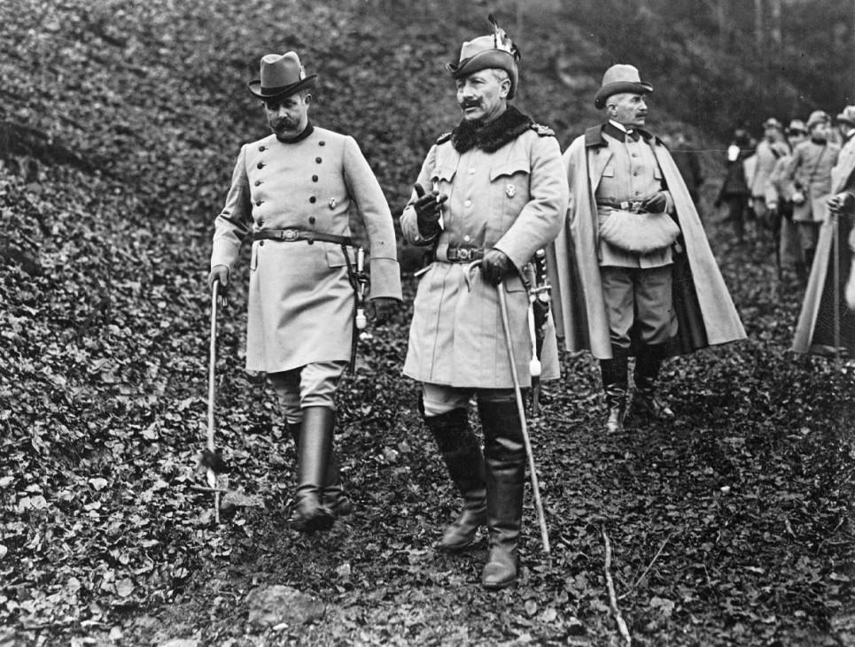 Erzherzog Franz Ferdinand und Wilhelm II. in Springe, 1912