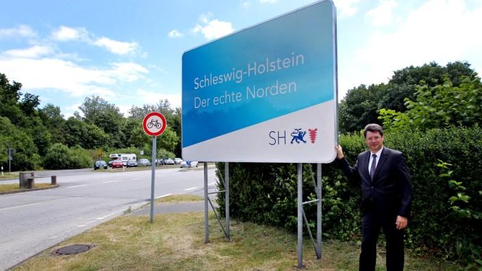 Schleswig Holstein Slogan Harrislee Reinhard Meyer