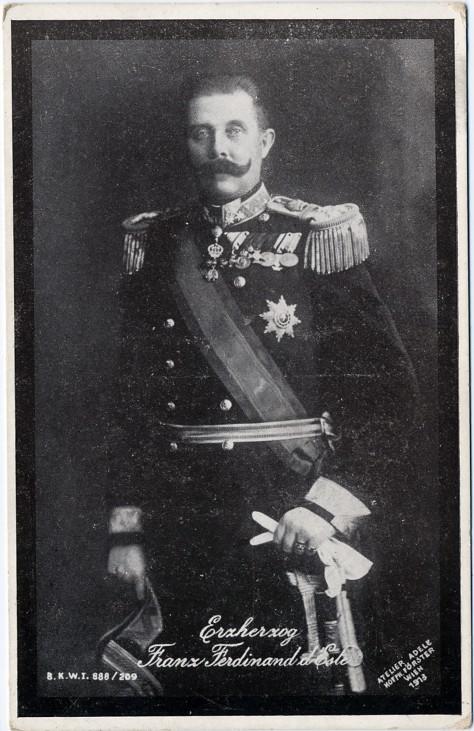 Erzherzog Thronfolger Franz Ferdinand von Österreich Sarajevo Attentat 1914