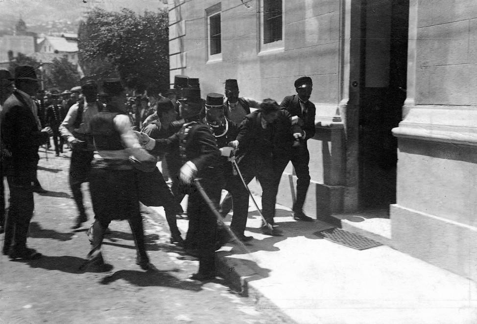 Verhaftung des Mörders des österreichischen Thronfolgerpaares in Sarajewo, 1914