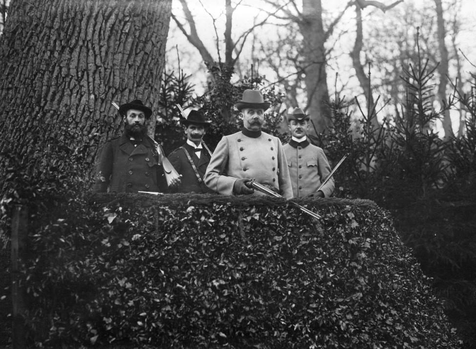 Erzherzog Franz Ferdinand auf der Jagd, 1912