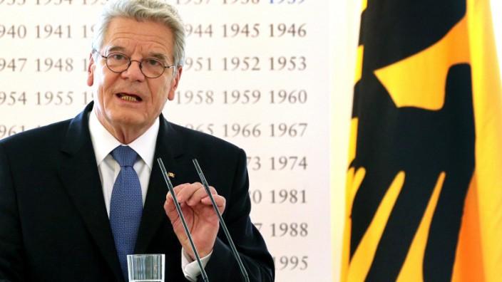 Joachim Gauck - Erinnerung an ersten Weltkrieg