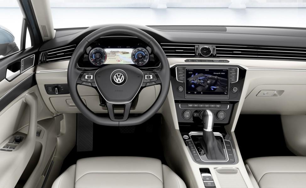 Der Innenraum des neuen VW Passat