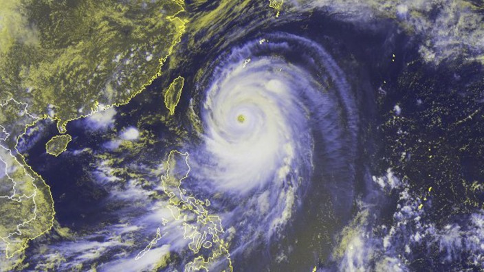 Typhoon Neoguri, the first super typhoon of 2014
