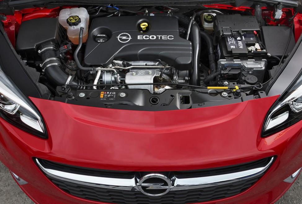Der Motor des Opel Corsa E