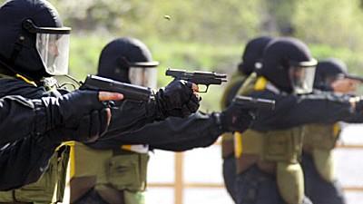 Libyen-Affäre: Ein deutsches Sondereinsatzkommando (SEK) bei einer Schießübung.