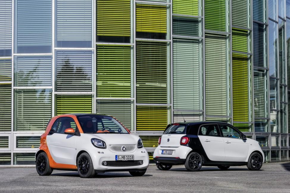 Die neue Smart-Generation: Fortwo und Forfour