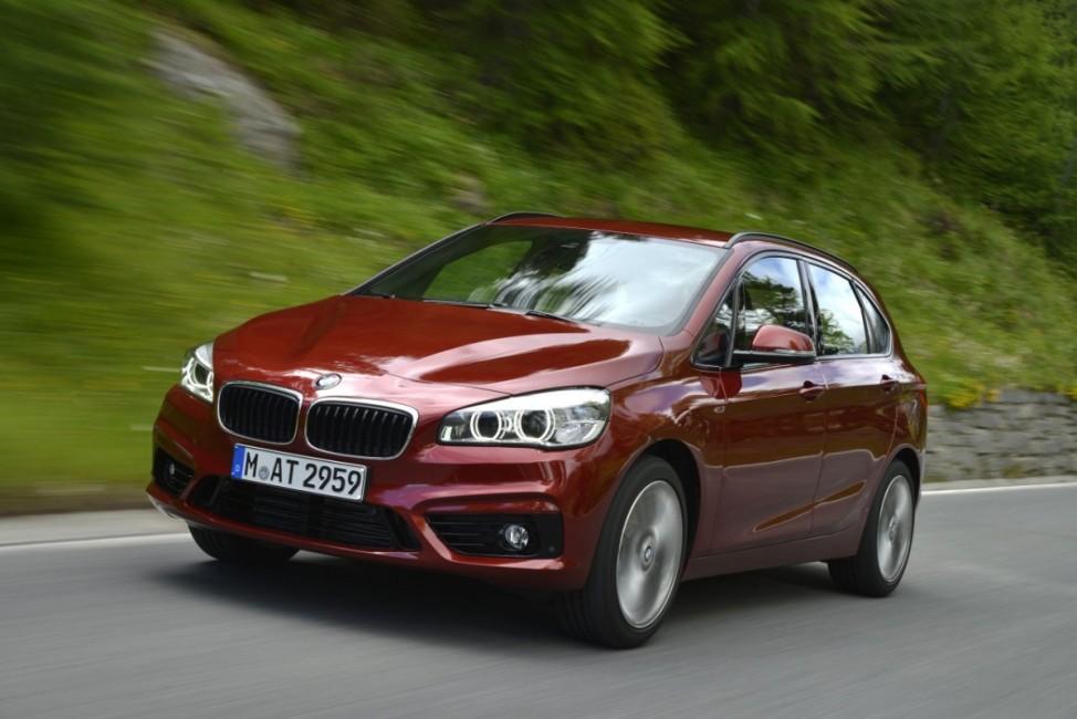 BMW Active Tourer bei der Testfahrt