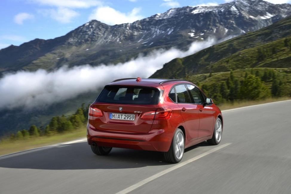 Das Heck des BMW Active Tourer