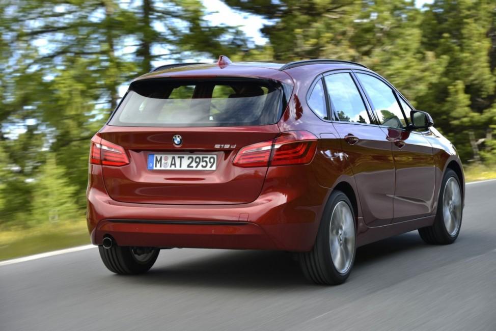 Das Heck des BMW Zweier Active Tourer