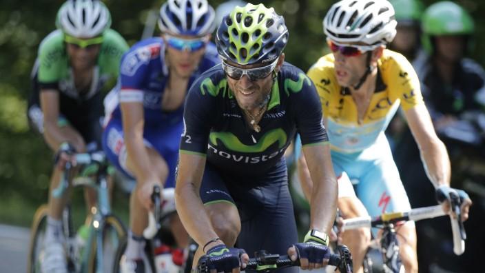Tour de France: Die 13. Etappe führte in die Alpen: Nibali (in Gelb) und andere Fahrer