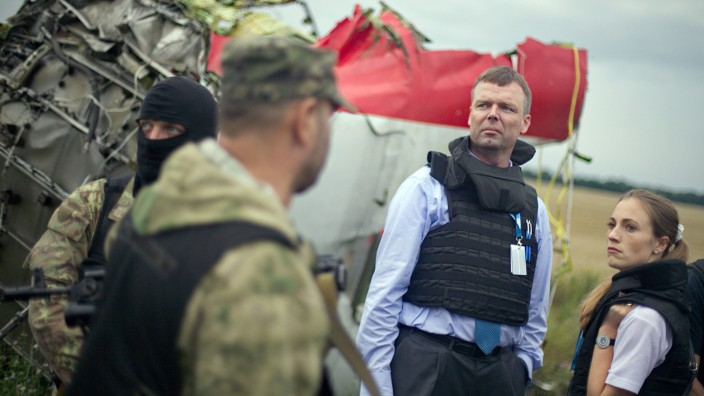 Crash site of Malaysia Airlines plane in eastern Ukraine