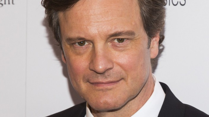 Cast member Firth arrives for the premiere of the Woody Allen film 'Magic in the Moonlight' in New York