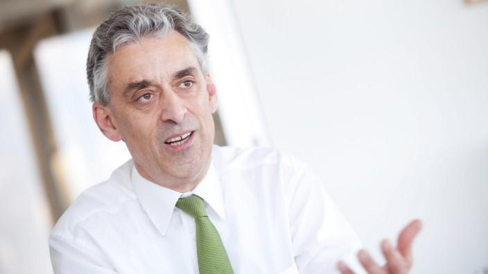 Frank Appel, Vorstandsvorsitzender der Deutschen Post DHL im SZ Hochhaus