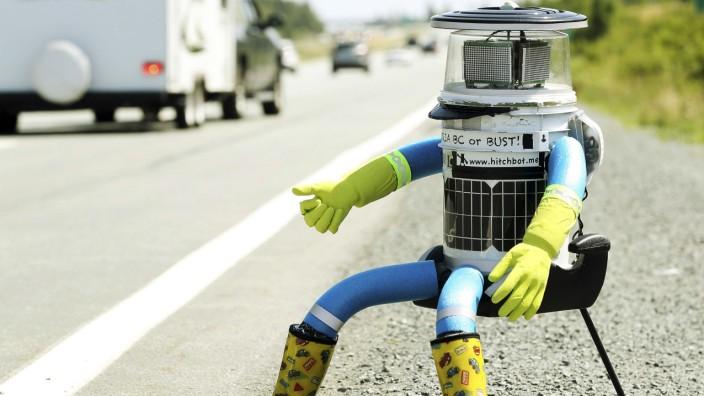 Hitchbot Kanada Roboter und Menschen