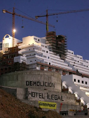 Greenpeace dokumentiert Bausünden in Spanien, AFP