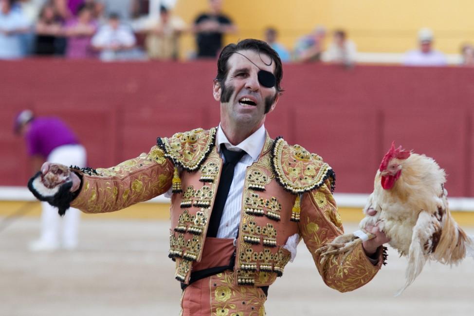 Der spanische Stierkämpfer Juan José Padilla in Guadalajara