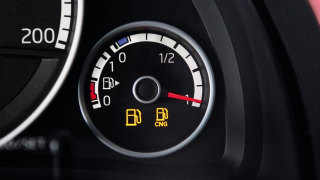 Die Tankanzeige des VW Eco-Up!