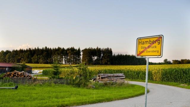 Bruck: In dem Wald hinter dem Weiler Hamberg ist die Anlage mit einer Nabenhöhe von 138 Metern geplant.