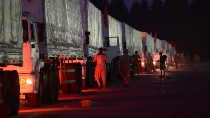 Truck convoy to deliver humanitarian relief aid to Ukraine
