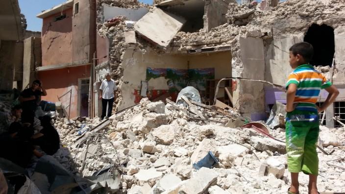 Destruction in Mosul, Iraq
