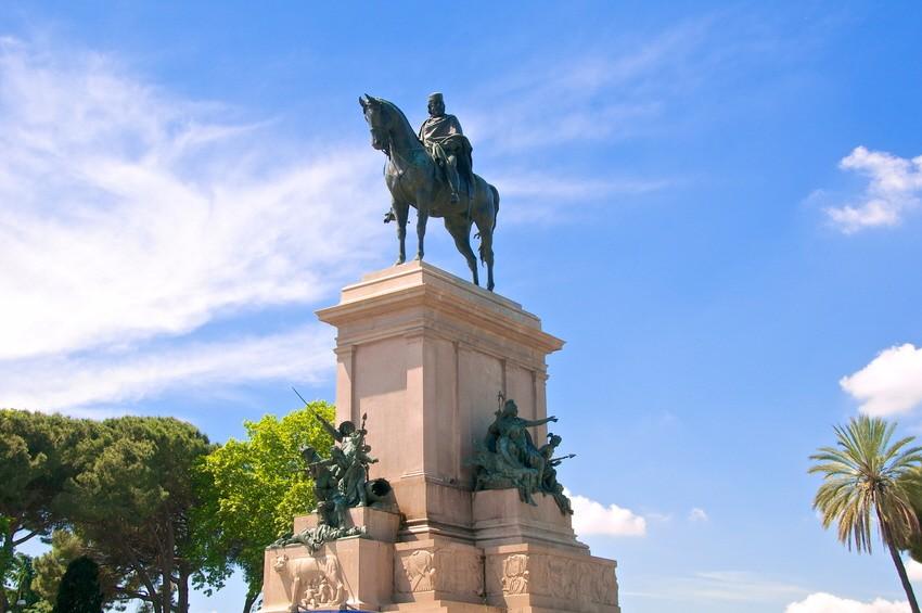 Rom, Italien, Gianicolo, Giuseppe Garibaldi