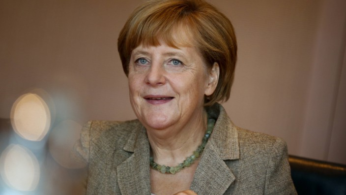 German Chancellor Merkel attends a cabinet meeting at Chancellery in Berlin