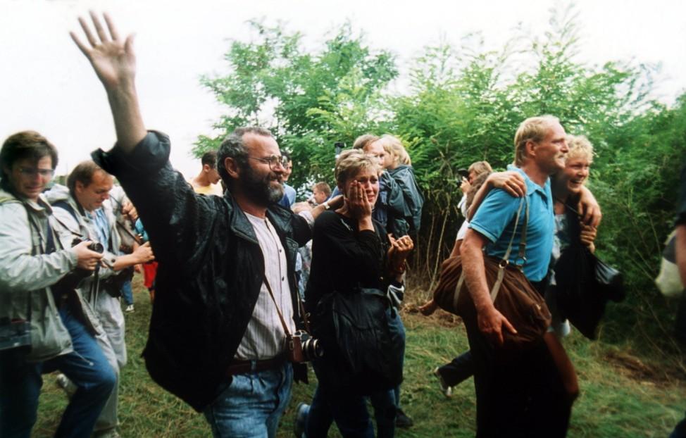 Massenflucht von DDR-Bürgern nach Österreich