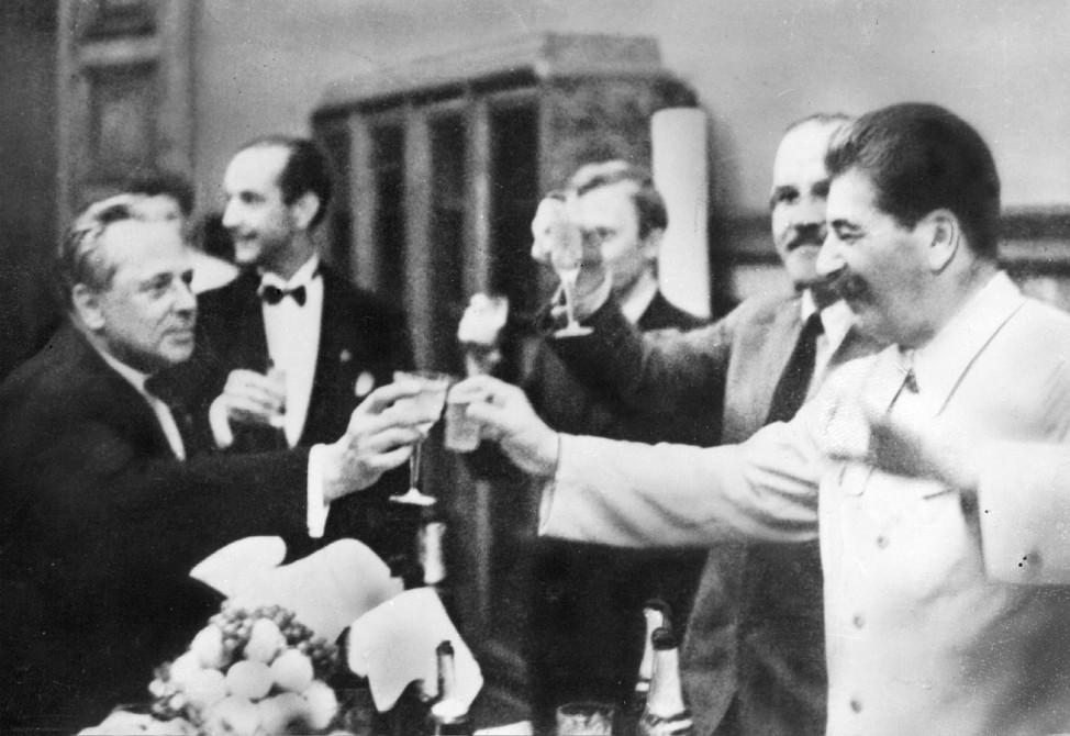 Unterzeichnung des deutsch-sowjetischen Nichtangriffspakt, 1939