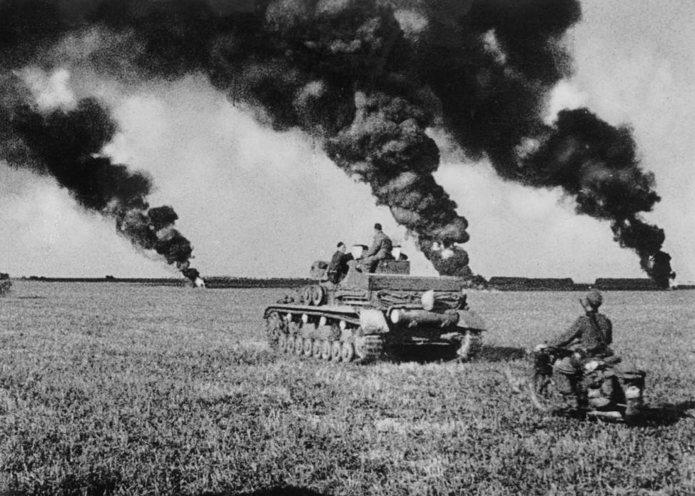 Deutscher Panzer IV nach dem Kampf, 1941